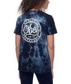 6a0eaff92322 Zumiez Obey Since 89 Black Tie Dye T-Shirt Found on my new favorite app