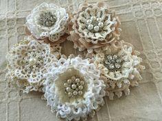 handmade vintage lace shabby chic wedding flower