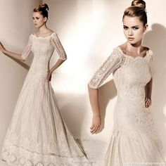 So amazing. Beautiful lace, beautiful neckline, beautiful A-line...wonderful.