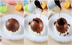 Esfera de chocolate com calda quente (Foto: Divulgao / Sidney Doll)