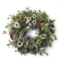 Our French Blooms Wreath is so beautiful, it as if hydrangea, buttercups, morning glories and poppies were gathered from the sun-drenched French    countryside to make it. Instead, high-quality faux flowers and foliage create the prettiest spring wreath around.            Faux hydrangea, anemone, poppy, and ranunculus mixed with faux morning glory vines, magnolia, salal, wild lavender, dusty miller, fern, and camellia        foliage                Suitable for indoor or outdoor use       ...