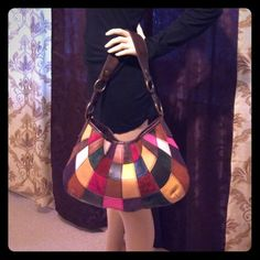 Bohemian Lucky Brand Colorful Purse Handbag I adore this bag! I always got so many complements on it. It's very pretty. Shoulder bag length. Gently used. 100% Leather. Some stains inside, and some outside see all photos. Lucky Brand Bags Shoulder Bags