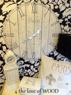 DIY: FENCE BOARD CLOCK - paris clock