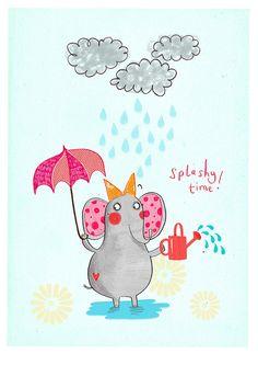 Splashy Time! by Alex T Smith, via Flickr