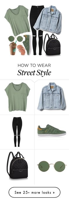 """Retro Sunglasses : Street Style"" by elfinaaisyahra on Polyvore featuring The Row, Topshop, MANGO, adidas Originals and Gap"
