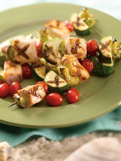 "Greek-style Swordfish Kabobs (sub chicken?) - Medifast ""leaner"" meal"