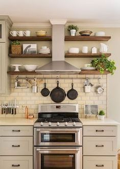60 fancy farmhouse kitchen backsplash decor ideas (56)