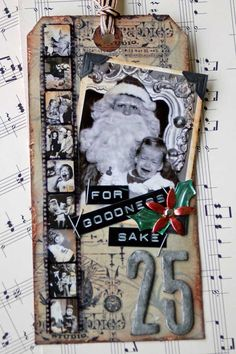 Day 9 Tim Holtz' 12 Tags of Christmas - Scrapbook.com