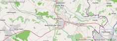 A detailed map of the town of Amersham in the UK.