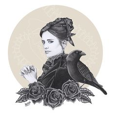 Penny Dreadful by Laura Smit #evagreen #pennydreadful #showtime #illustration #raven