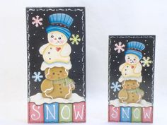 Snow Friends Items WPH95 Gingerbread Fridge by ByBrendasHand