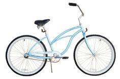 SALE Women's Urban Lady 24″ Beach Cruiser Bike Color: Baby Blue