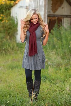 Wildest Dreams Sweater Dress - Grey from Closet Candy Boutique