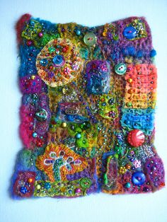 fabric collage | Flickr - Photo Sharing! Colour inspiration