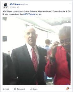 ABC News goes live during debate break