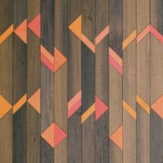 Inlay surface with a geometric timber tile design. Pressure bonded with quality furniture grade plywood. Spray lacquered finish.    Hand crafted by Métier.  Designed by Anthony Roussel.