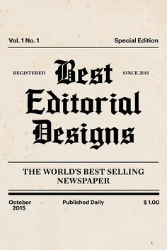 50 Incredible Editorial Designs From Around The World
