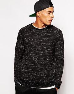ASOS+Sweatshirt+In+Speckle+Fabric