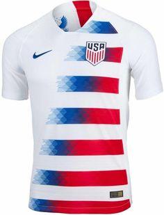 9a45d7e09 2018 19 Nike USA Home Match Jersey. Buy one from www.soccerpro.