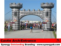 Inflatable Castle Arch, Entrance, Facade, Photo-Magnet, Make an Entrance