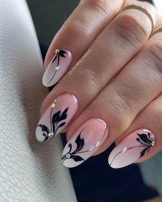 Classy Nail Designs, Fall Nail Art Designs, Pink Nail Designs, Nail Polish Designs, Beautiful Nail Designs, Beautiful Nail Art, Cute Acrylic Nails, Cute Nails, Gel Nails