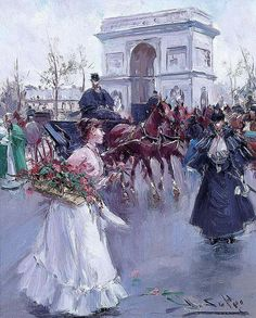 Juan Soler (Spanish, b. F Pictures, Vintage Pictures, Illustrations Vintage, Flowers For Sale, Flower Market, Female Art, Portrait, Painting, Spanish