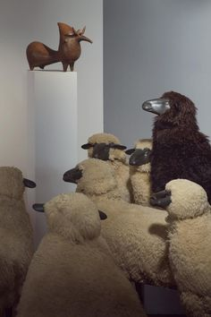 Photograph by Peter Funch.   Francois-Xavier Lalanne, Sheep, Christie's, Installation, Fine Art, Photography