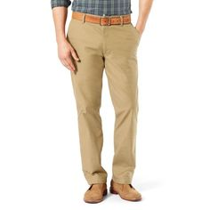 Men's Dockers Pacific Straight-Fit Washed Khaki Stretch Pants, Size: 36X34, Lt Beige