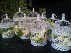 Flowers and bird cages