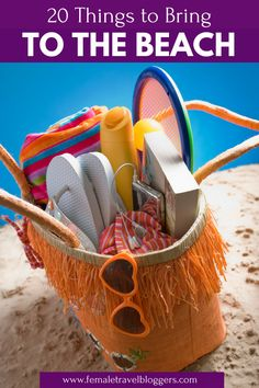 Are you planning a beach vacation this year? If so, you have to check out this beach packing list for women. We included everything from floppy beach sunhats, the best drink coolers, our favorite sunglasses for the beach, cute beach towels and more. Come check it out and grab all of this cute beach gear before your next beach vacay. Don't forget to save this to your beach board so you can find it later. #beach #beachpackinglist #packinglist #beachessentials #femaletravelbloggers