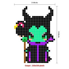 Pixel Art Grid, Beads, Beading, Bead, Pearls, Seed Beads, Loom Beading