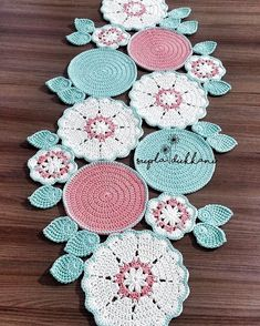 Embroidery for Beginners & Embroidery Stitches & Embroidery Patterns & Embroidery Funny & Machine Embroidery Crochet Placemat Patterns, Crochet Flower Patterns, Doily Patterns, Crochet Motif, Crochet Designs, Crochet Doilies, Crochet Flowers, Embroidery Patterns, Knitting Patterns