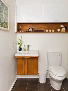 Powder Room Designs | DIY Bathroom Ideas - Vanities, Cabinets, Mirrors & More | DIY