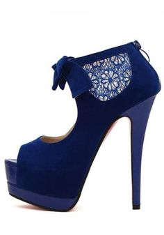 Women's bow peep toe platforms-high heels