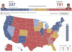 President Barack Obama Leading Electorial Polls !!! Lets Go TEAM OBAMA !!! — in United States.
