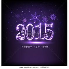 purple happy new year 2015