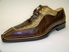 Mauri All Over Ostrich Dress Shoe / Two Tone Brown cityslickershoes.com ghost313 Detroit