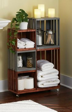 DIY Rolling Bathroom Storage | 11 Brilliant DIY Bathroom Organization Ideas