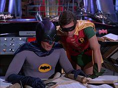 Adam West and Burt Ward in Batman Batman Tv Show, Batman Tv Series, Batman 2, Batman 1966, Batman Comics, Batman Robin, Batman Stuff, James Gordon, Superhero Bathroom
