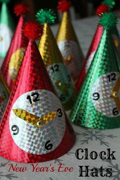 Clock Hats for New Year's Eve ~ Reading Confetti