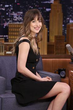 "Sunshine! Dakota Johnson on ""The Tonight Show Starring Jimmy Fallon"" #DakotaJohnson Cr. @DakotaDJohnson"