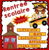 French Buzz - ressources en français: La rentrée - Ressources gratuites Core French, French Classroom, French Immersion, Class Activities, Back To School, Projects To Try, Teaching, Grade 2, Alphabet