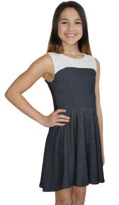 Denim + Lace High Low Dress