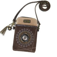 Cell Phone Xbody -Buttons N' Bling Convenient compact funSmall front pocket is adorned with a symetrical circle designAdjustable strap - turn the bag into a purse a crossbody bag or even a pouch!T...