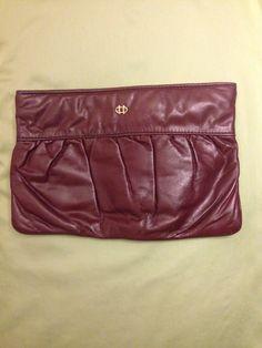Vintage Burgundy clutch