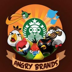 Russian artist Yakushev Grigory has recreated iconic company logos as characters from Angry Birds.