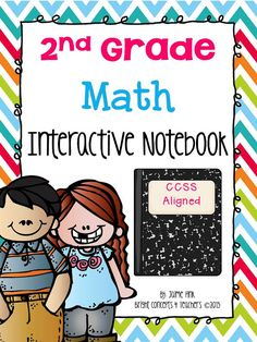 2nd Grade MATH Interactive Notebook! 121 pages of common core activities to reinforce skills.$