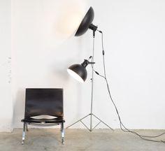 Old Industrial Studio Floor Lamp
