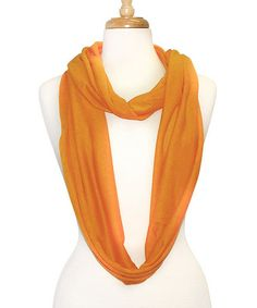 Orange Infinity Scarf by Tickled Pink #zulily #zulilyfinds