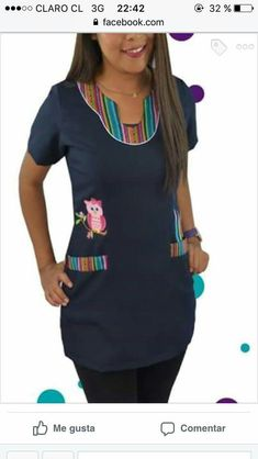 Guardapolvo jardin Stylish Scrubs, Long African Dresses, Scrubs Uniform, Medical Scrubs, Teacher Style, Teacher Outfits, Scrub Tops, Fashion Sketches, Fashion Dresses